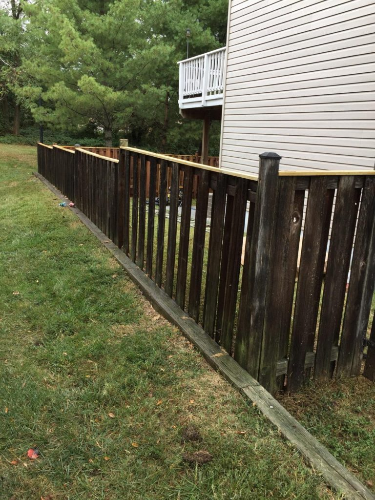 Before the fence staining by Expert Handyman