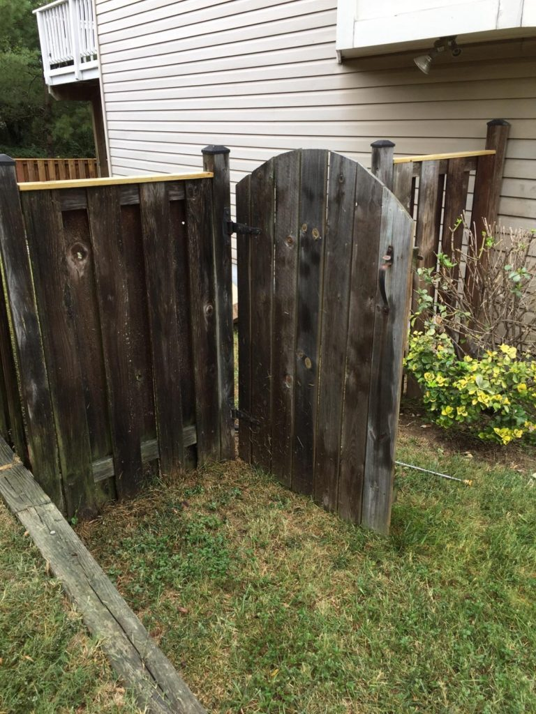 Before fence staining by Expert Handyman