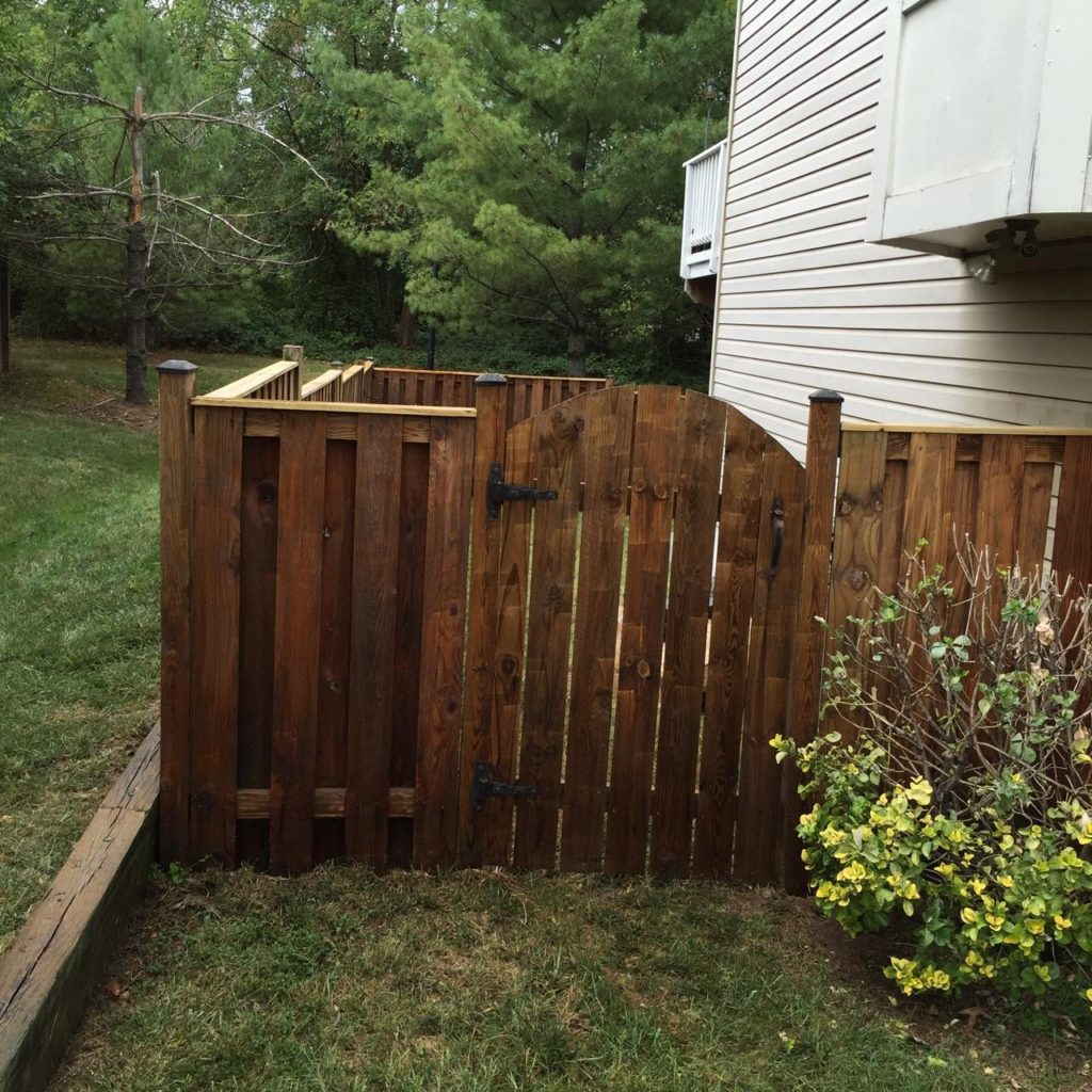 Fence stained by Expert Handyman